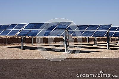 Solar panel energy collector farm