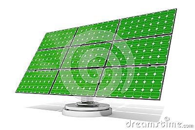 Solar panel green