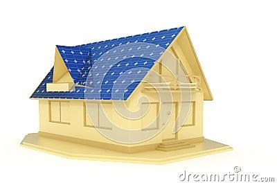 Solar panel house 3