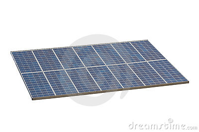 Solar panel , isolted , white background