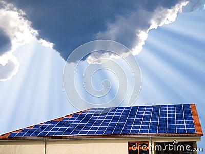 Solar panel modern home goof