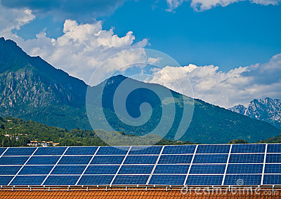 Solar panel photovoltaic energy