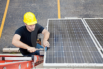Solar Panel Repair with Copyspace