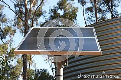 Solar Panel & Water Tank