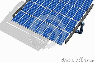 Solar Panel on White