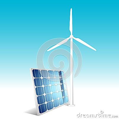 Solar panel and wind generator