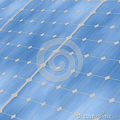 Solar panels close up