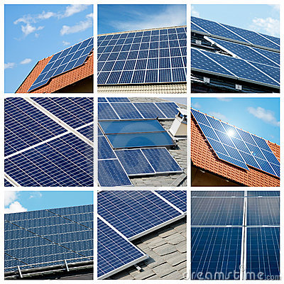 Solar panels collage