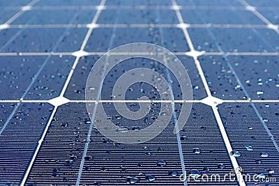 Solar panels in dew
