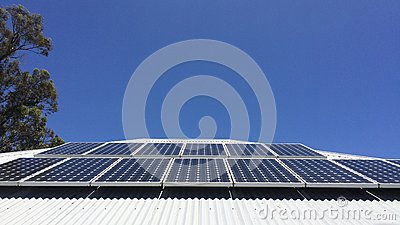 Solar Panels Stock Photo Image 47919106