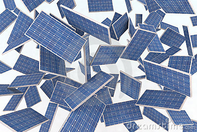 Solar panels fly