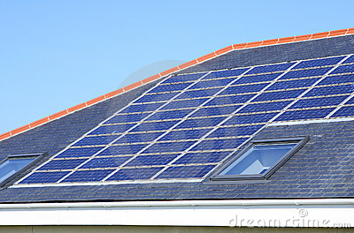 Solar Panels House Roof