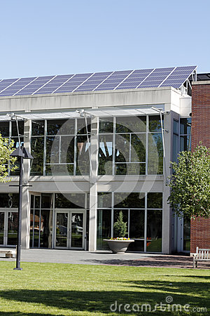 Solar Panels on Library Roof