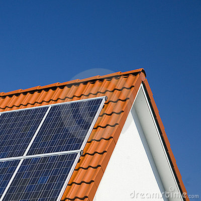 Free Solar Panels On Roof Stock Image - 15472661