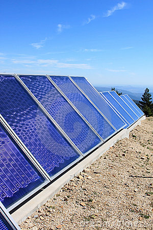 Solar panels in the Portuguese mountains