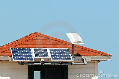 Solar Panels on small rooftop