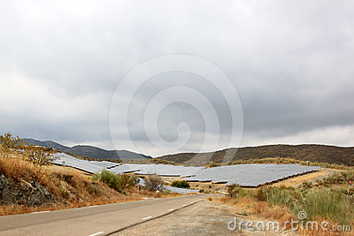 Solar panels in Spanish Andalusia near Nijar