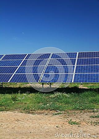 Solar panels sun energy