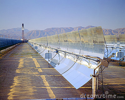 Solar plant Editorial Stock Image