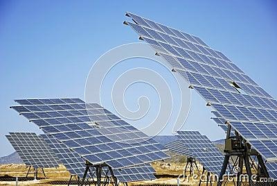Solar plant in spain