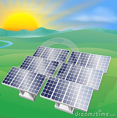 Solar power energy illustration