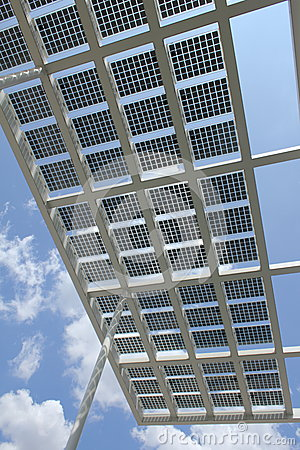 Solar power - Panels against Blue sky