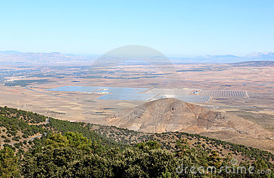 Solar power plant in Andalusia near Guadix, Spain
