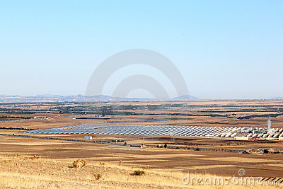 Solar power plant near Guadix, Andalusia, Spain