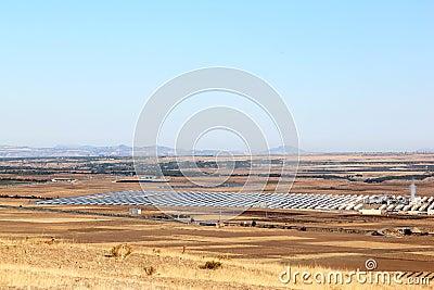Solar power plant near Guadix, Andalusia, Spain
