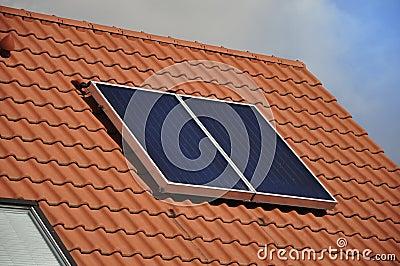 Solar-powered battery