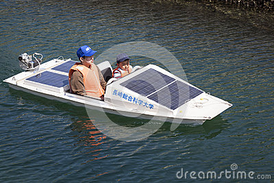 Solar Powered Boat Editorial Photo