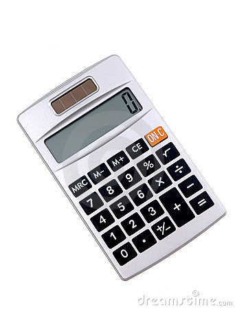Solar Powered Calculator Royalty Free Stock Images Image