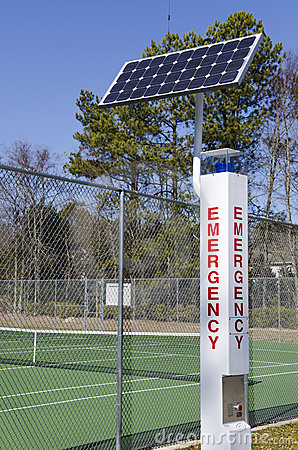 Solar powered emergency call station