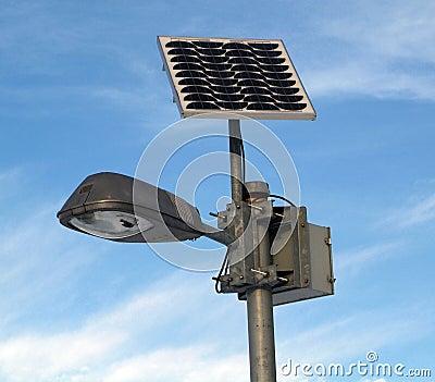 Solar powered lamp post