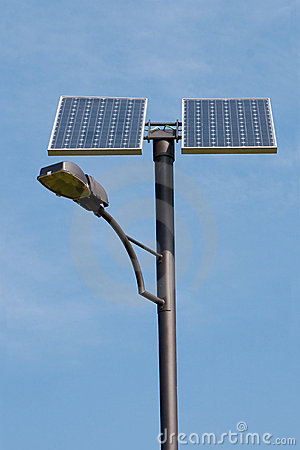 Free Solar Powered Lamp Post Stock Photo - 8864950