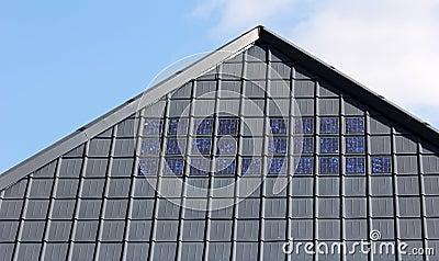 Solar roofing tiles