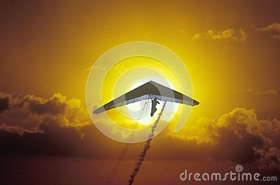 Solar Sailing Hang Gliding Editorial Image