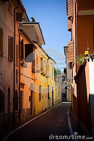 Solar street in Rimini