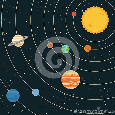 Solar System Illustration Royalty Free Stock Photos