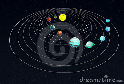 Solar System Infographics With Asteroid Belt Stock ...