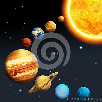 The Solar System - Milky Way Royalty Free Stock Photo