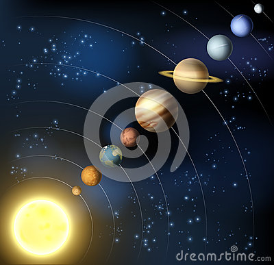 Solar System From Space Stock Vector Image 42321749
