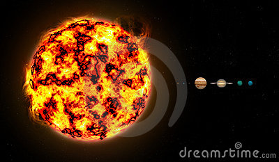 Solar System To Scale Stock Image Image 22250041