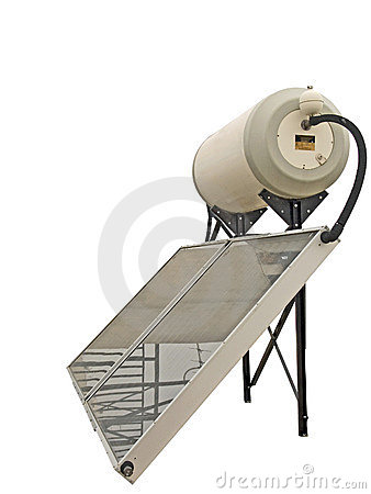 Free Solar Water Heater Royalty Free Stock Photography - 374357