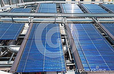 Solar water heater on roof Barcelona