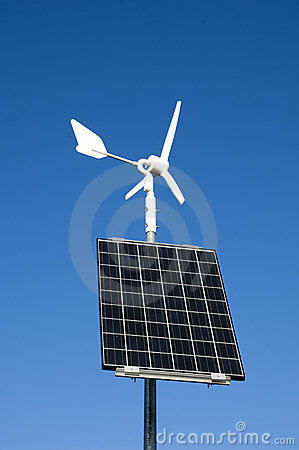 Free Solar Wind Energy Powerstation Royalty Free Stock Images - 7898279