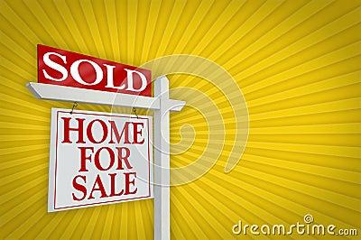 Sold Home For Sale Sign, Burst