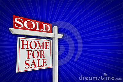 Sold Home For Sale Sign, Burst