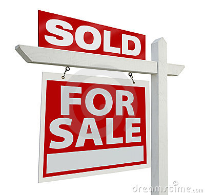 Free Sold Real Estate Sign Stock Photography - 6364312