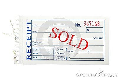 Sold receipt